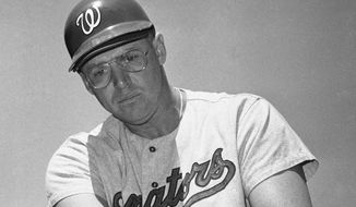 Slugger Frank Howard hit 237 home runs for the Washington Senators from 1965 to 1971. Howard will be inducted into the Washington Nationals Ring of Honor Friday at Nationals Park. (Associated Press)