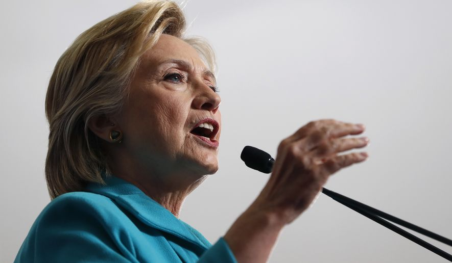 Democratic presidential candidate Hillary Clinton speaks during a campaign event at Truckee Meadows Community College, in Reno, Nev., Thursday, Aug. 25, 2016. (AP Photo/Carolyn Kaster)