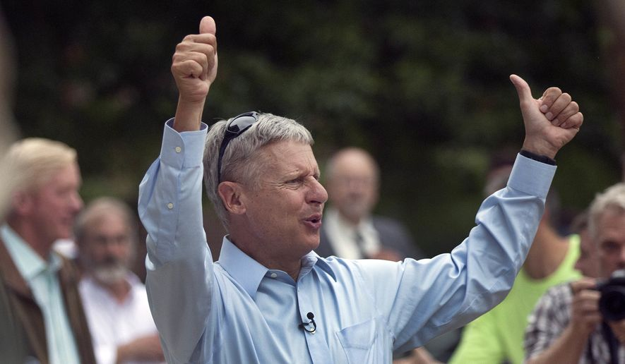 Libertarian presidential candidate Gary Johnson (Associated Press/File)
