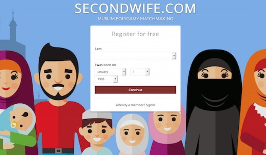"""The British founder of the """"Second Wife"""" says his polygamy website has gained over 100,000 Muslim members since its launch in June. (Second Wife screenshot)"""