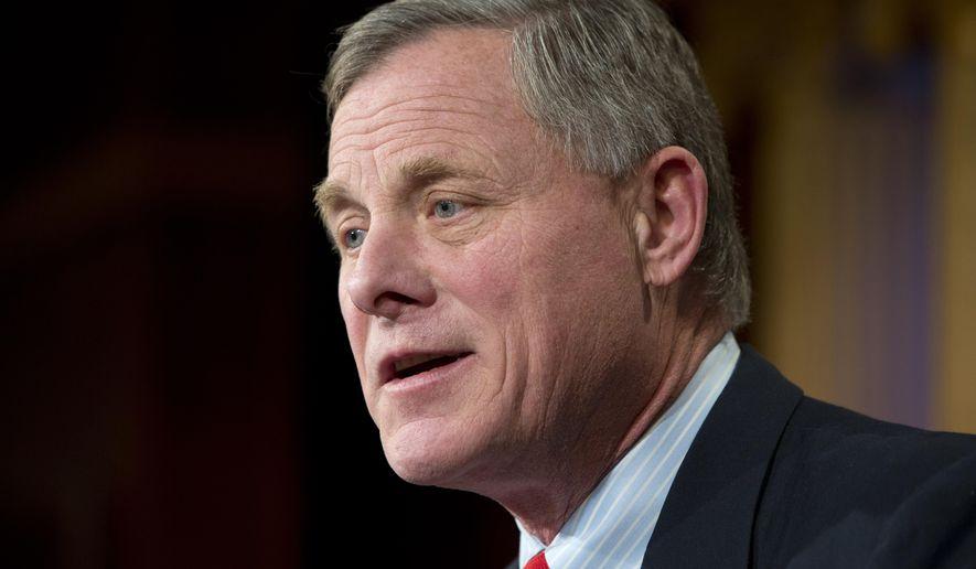 Sen. Richard Burr, North Carolina Republican, speaks on Capitol Hill in Washington on Jan. 15, 2015. (Associated Press) **FILE**
