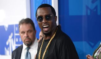 """Sean """"Diddy"""" Combs arrives at the MTV Video Music Awards at Madison Square Garden on Sunday, Aug. 28, 2016, in New York. (Photo by Evan Agostini/Invision/AP)"""