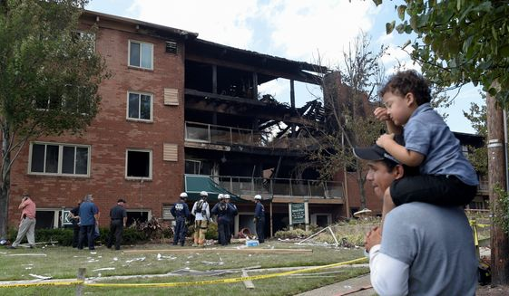 10 explosion at the flower branch apartments in