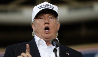 Republican presidential candidate Donald Trump. **File (AP Photo/Gerald Herbert, File)