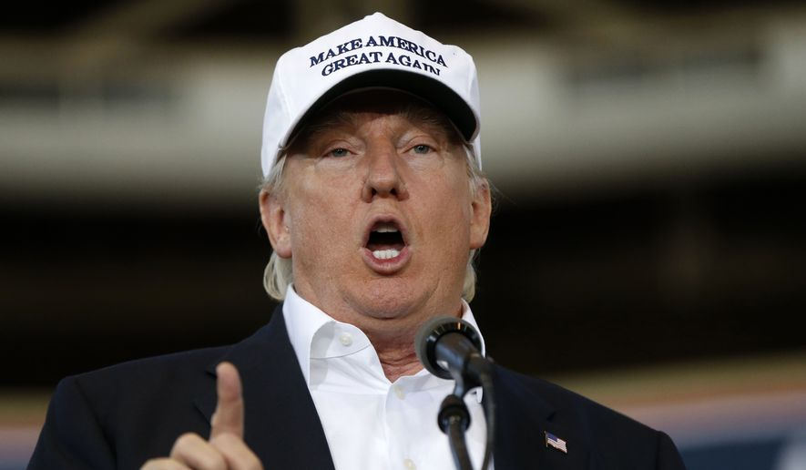 Republican presidential candidate Donald Trump. **File (AP Photo/Gerald Herbert, File)