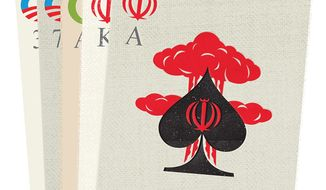 """Illustration on the risks of betting on Iranian compliance with the """"Nuclear agreement"""" by Linas Garsys/The Washington Times"""