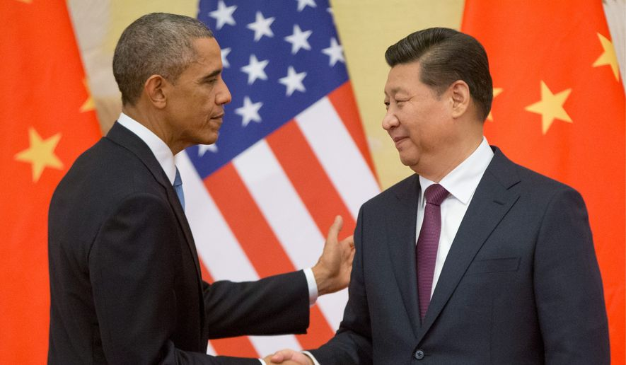 Obama looking for a climate legacy in china washington times president obama is expected to ratify the paris climate accord by executive agreement with chinese president platinumwayz