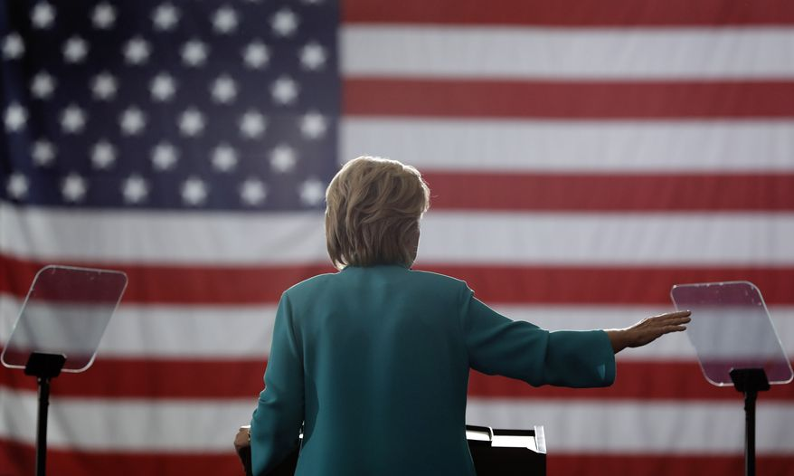 Democratic presidential candidate Hillary Clinton speaks during at a campaign event at Truckee Meadows Community College, in Reno, Nev., Thursday, Aug. 25, 2016.  (AP Photo/Carolyn Kaster)