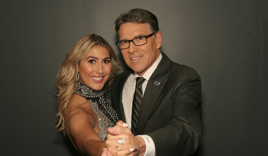 """Rick Perry and his new dance partner Emma Slater, will compete on """"Dancing with the Stars"""" beginning September 12. (ABC Entertainment)"""