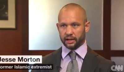 Jesse Morton formerly recruited terrorists for al Qaeda. He will now serve as a homeland security expert for George Washington University. (CNN screenshot)