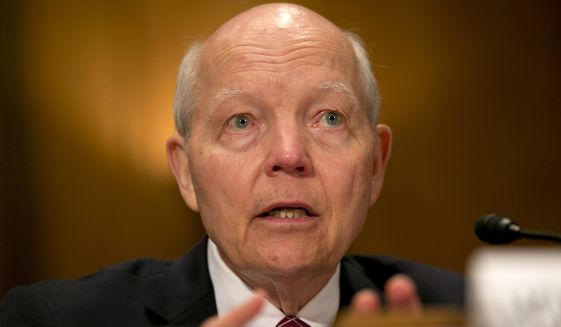 IRS Commissioner John Koskinen testified at the time that it may take new legislation from Congress to let his agency inform taxpayers they'd been the subject of identity theft. (Associated Press)