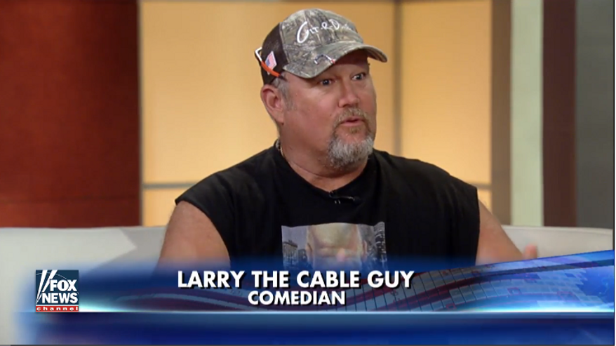 """Comedian Larry the Cable Guy on the Aug. 30, 2016, edition of Fox News Channel's """"Fox & Friends"""" morning program. Image via video screen capture. ** FILE **"""