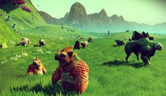 Space explorers find planets filled with lively ecosystems in Hello Games' No Man's Sky.