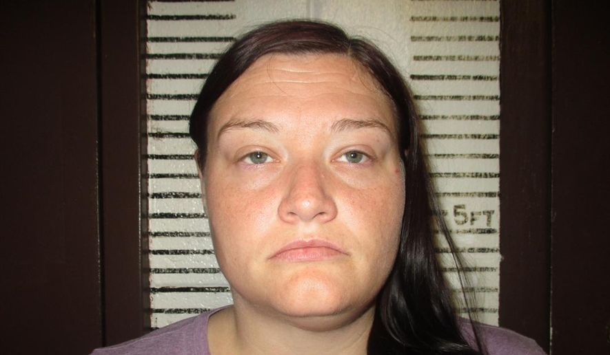Valerie Fowler mug shot from the Garvin County [Okla.] Sheriff's Office. As accessed from KFOR.com on August 30, 2016.