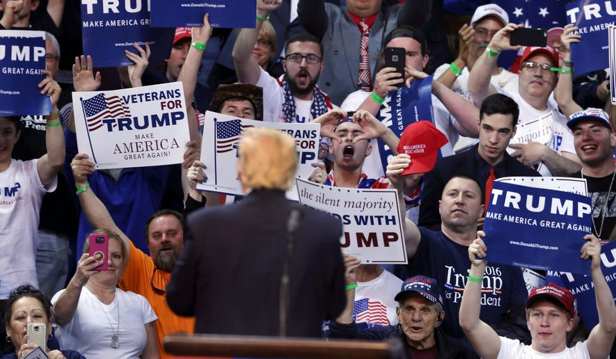 Despite a chilly reception for Republican canvassers going door-to-door throughout Pennsylvania, a crucial swing state, to drum up support for Donald Trump, more Democrats in the state have switched to the GOP than the reverse. (Associated Press)