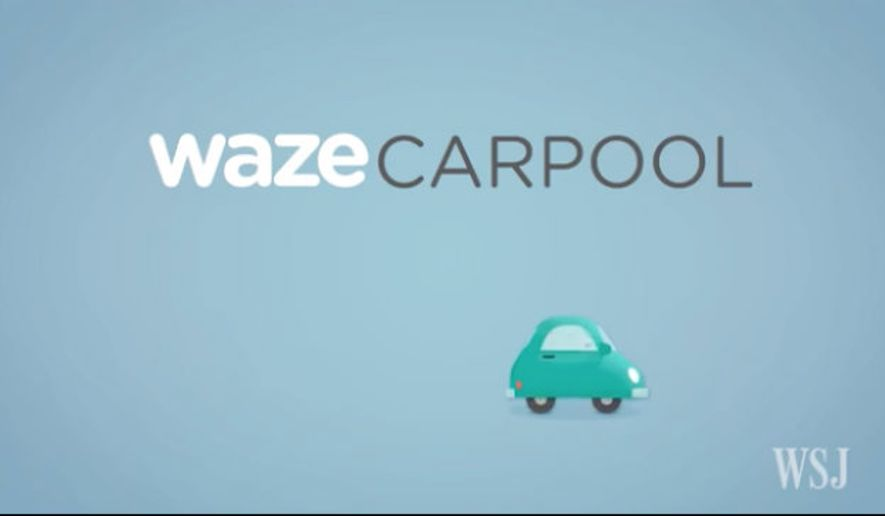 Screen captured from an Aug. 30, 2016, Wall Street Journal video about the pilot program Waze is launching for carpooling in San Francisco.
