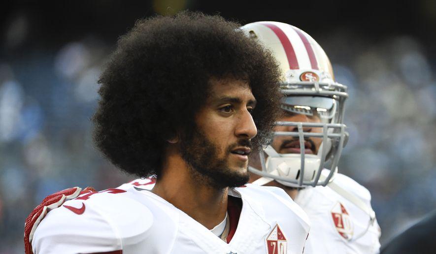 San Francisco 49ers Quarterback Colin Kaepernick Walks Off