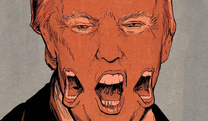 """Illustration on Trump's """"softening"""" on immigration by Paul Tong/Tribune Content Agency"""