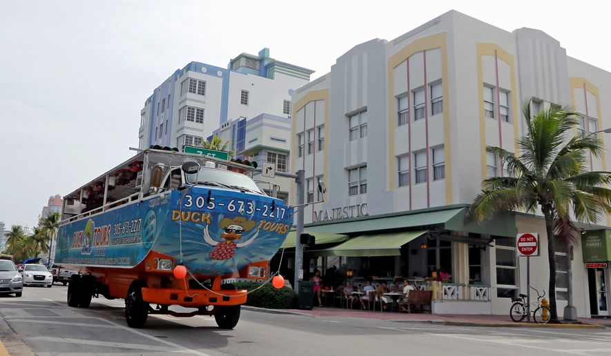 Authorities in Florida said Thursday they have found the Zika virus in three groups of trapped mosquitoes in Miami Beach, the first time this has happened in the continental U.S. The mosquitoes were trapped in a 1.5-square-mile area of Miami Beach that had been identified as an active zone of transmission of the virus, the Florida Department of Agriculture and Consumer Services said in a news release. (AP Photo/Alan Diaz) (Associated Press)