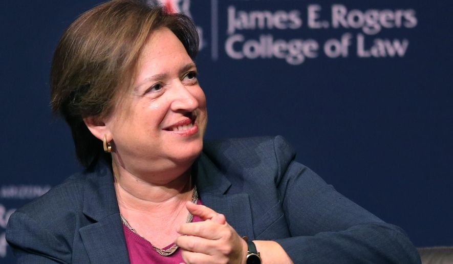 Supreme Court Justice Elena Kagan at the J. Byron McCormick Society for Law and Public Affairs lecture at the University of Arizona, Wednesday, Aug. 31, 2016, Tucson, Ariz. (Kelly Presnell/Arizona Daily Star via AP)