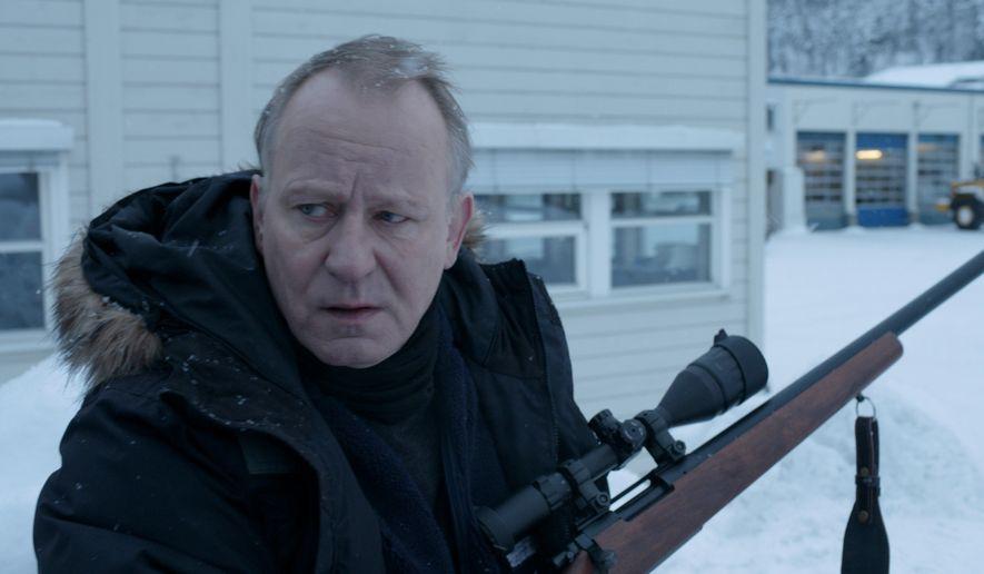 """Stellan Skarsgard as Nils in a scene from the Norwegian revenge drama """"In Order of Disappearance.""""  (madfilm.org)"""