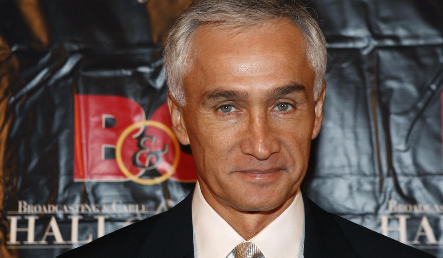 """FILE - In this Oct. 20, 2009 file photo, Univision news anchor Jorge Ramos poses for a photograph after arriving at the 19th annual Broadcasting & Cable Hall of Fame Awards in New York. Ramos says he'd like to moderate one of the presidential debates, and doesn't believe his recent call for people to """"take a stand"""" against Republican Donald Trump should eliminate him from consideration. (AP Photo/Kathy Willens, File)"""