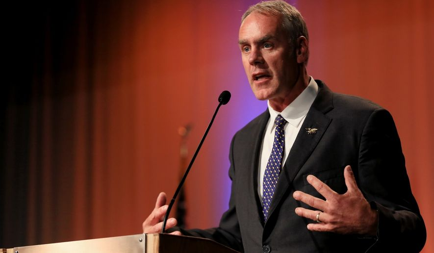Rep. Ryan Zinke discusses leadership and Syrian refugees during a U.S. House debate in Petro Hall at Montana State University in Billings on Sept. 1, 2016. (Bronte Wittpenn/The Billings Gazette via AP) **FILE**