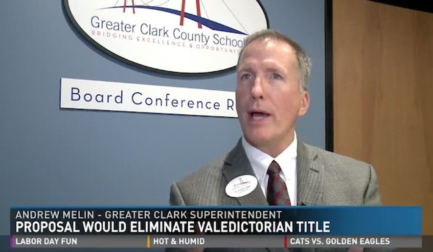Superintendent Andrew Melin of Greater Clark County Schools said there is growing sentiment in schools across the country that the valedictorian system creates unhealthy competition between students. (WHAS 11)