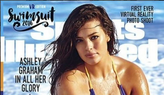 Model Ashley Graham on the cover of the 2016 Sports Illustrated Swimsuit Issue. (Image: DesignTrend.com.) ** FILE **
