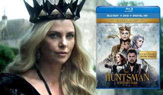 "Charlize Theron as Queen Ravenna in The Huntsman: Winter's War,"" available on Blu-ray from Universal Studios Home Entertainment."
