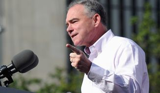 Democratic vice-presidential candidate Sen. Tim Kaine has been attacking Donald Trump while on the trail. (Associated press)