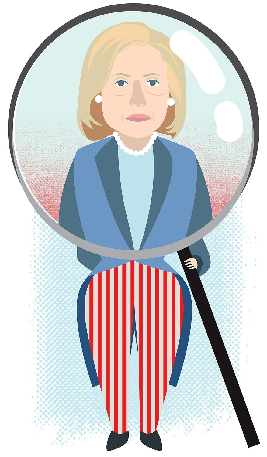 Illustration on investigating Hillary's foreign policy record by Linas Garsys/The Washington Times