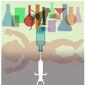 Illustration on animal testing of medicines by Alexander Hunter/The Washington Times