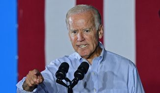 Vice President Joe Biden speaks at a campaign event for Democratic presidential candidate Hillary Clinton, Thursday, Sept. 1, 2016, in Cleveland. (AP Photo/David Dermer) ** FILE **