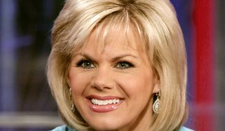 "In this May 18, 2010, file photo, TV personality Gretchen Carlson appears on the set of ""Fox & Friends"" in New York. Former Fox News Channel anchor Carlson has settled her sexual harassment lawsuit against Roger Ailes, the case that led to the downfall of Fox's chief executive, according to a statement released Tuesday, Sept. 6, 2016, by Fox parent company 21st Century. (AP Photo/Richard Drew, File)"