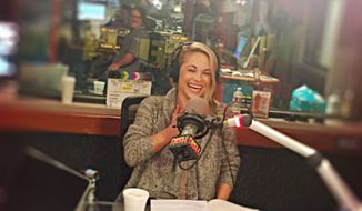 "Playboy Playmate Dani Mathers as pictured in a May 16, 2016 tweet for the ""Heidi and Frank"" show on KLOS. Ms. Mathers was fired from the radio program in July after body-shaming a naked woman in her gym's locker room by posting a photo of her to Snapchat."