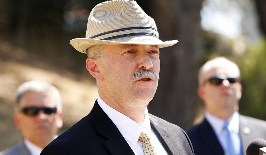 Sean Ragan, FBI special agent in charge of criminal investigation, addresses the media during a press conference at Cal Poly to inform the public of a renewed search for the remains of Kristin Smart at sites on the Cal Poly campus in San Luis Obispo, Calif., Tuesday afternoon, Sept. 6, 2016. (Joe Johnston/The Tribune (of San Luis Obispo) via AP)