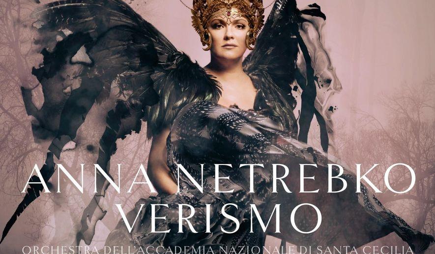 "This CD cover image released by Deutsche Grammophon shows, ""Verismo,"" featuring the Orchestra dell Accademia Nazionale di Santa Cecilia conducted by Antonio Pappano. (Deutsche Grammophon via AP)"