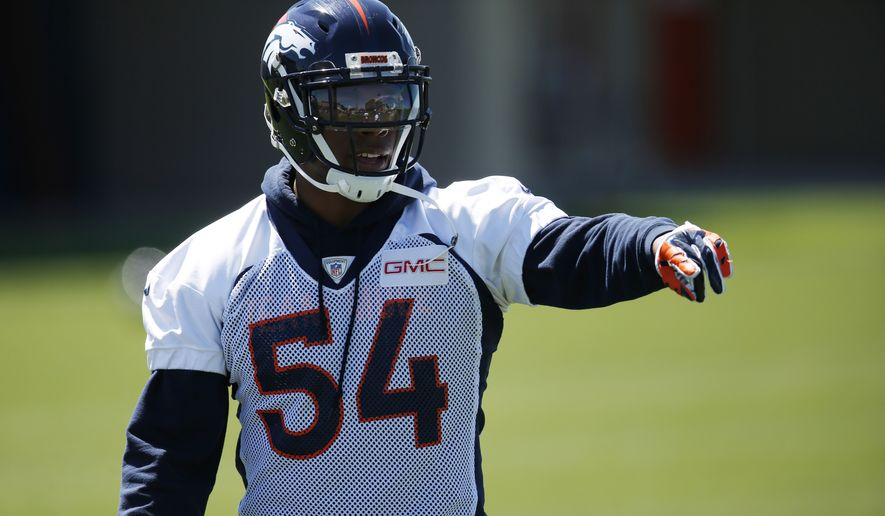 Denver Broncos linebacker Brandon Marshall (Associated Press)