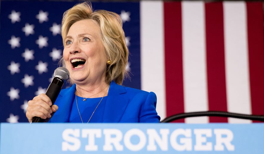 Democratic presidential candidate Hillary Clinton speaks at a rally at Johnson C. Smith University, in Charlotte, N.C., Thursday, Sept. 8, 2016. (AP Photo/Andrew Harnik)