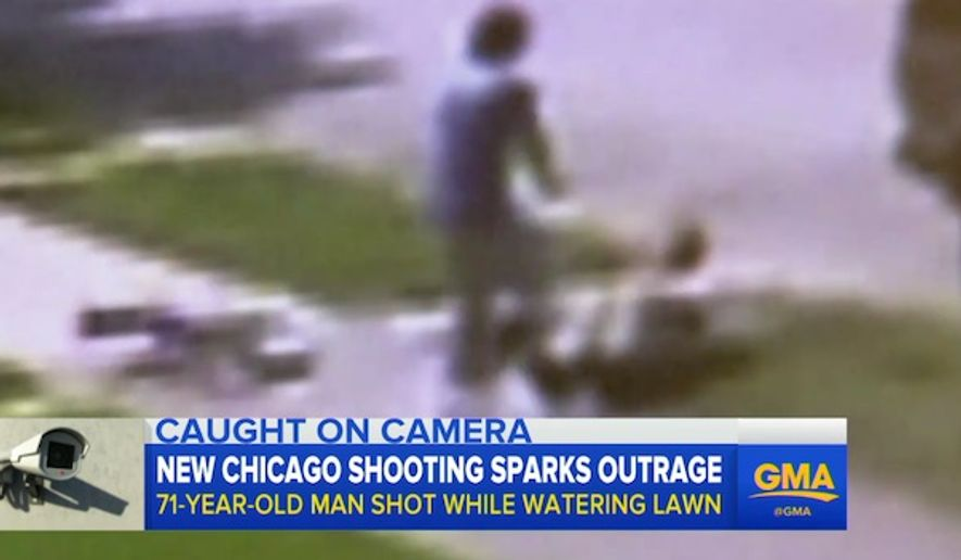 A teenager in Chicago shoots a 71-year-old Federico LaGuardia who was watering his lawn. (Good Morning America screenshot)