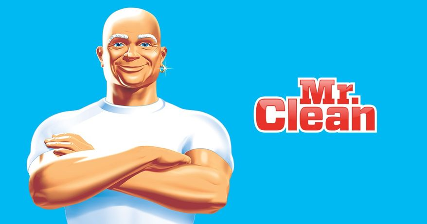 Mr. Clean, the iconic mascot of Procter & Gamble.