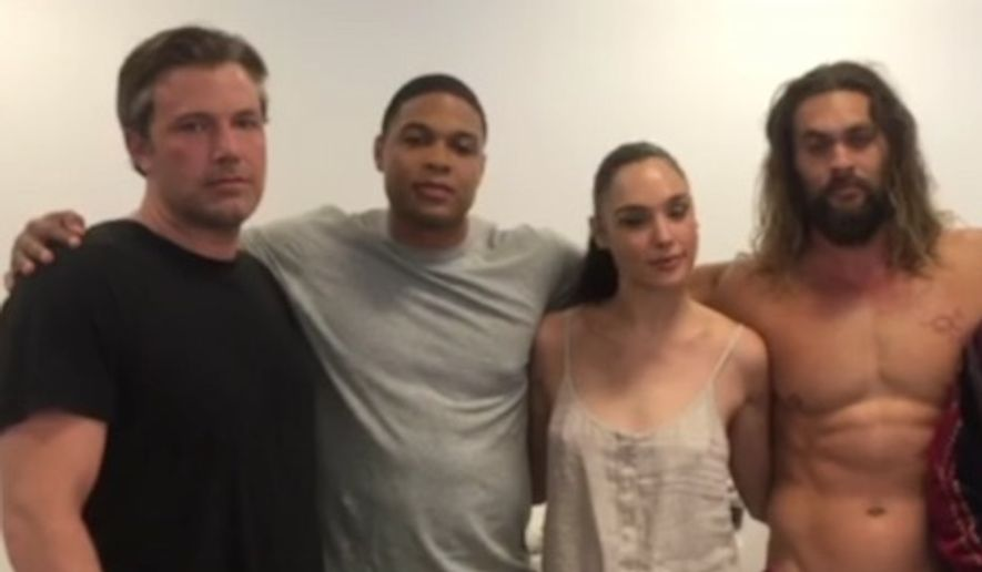 Ben Affleck, Ray Fisher, Gal Gadot, Jason Momoa and Ezra Miller take part in a Change.org video on behalf of the Standing Rock Sioux Tribe in North Dakota. (Change.org)