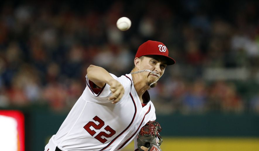 Washington Nationals pitcher A.J. Cole throws during the third inning of a baseball game against the Philadelphia Phillies at Nationals Park, Thursday, Sept. 8, 2016, in Washington. (AP Photo/Alex Brandon) **FILE**