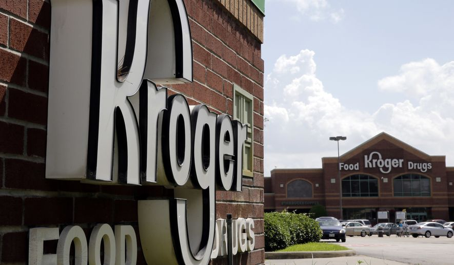 A Kroger store in Houston is show in this June 17, 2014, file photo. (AP Photo/David J. Phillip, File) **FILE**