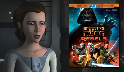 "Princess Leia Organa makes an appearance in ""Star Wars Rebels: Complete Season Two,"" available on Blu-ray from Walt Disney Studios Home Entertainment."