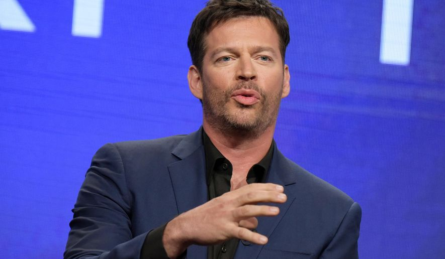 """FILE - In this Aug. 3, 2016 file photo, Harry Connick Jr. participates in the """"Harry"""" panel during the NBC Television Critics Association summer press tour in Beverly Hills, Calif. Connick's show debuts Monday, Sept. 12, with Sandra Bullock as the first guest. Amy Adams, Renee Zellweger and Terrence Howard are all scheduled for the first week, along with a few all-star cameos. (Photo by Richard Shotwell/Invision/AP, File)"""