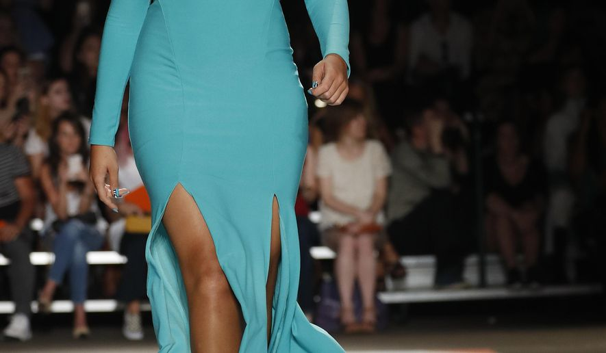 The Christian Siriano Spring 2017 collection is modeled during Fashion Week in New York, Saturday, Sept. 10, 2016. (AP Photo/Mary Altaffer)