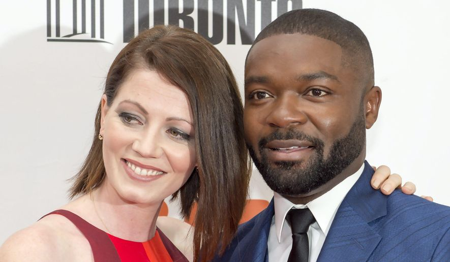 "David Oyelowo and Jessica Oyelowo arrive for ""A United Kingdom"" at the 2016 Toronto International Film Festival on Friday, Sept. 9, 2016. (Frank Gunn/The Canadian Press via AP)"
