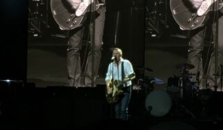 Bryan Adams performs Friday at the Wolf Trap in Vienna, Virginia.  (Eric Althoff/The Washington Times)